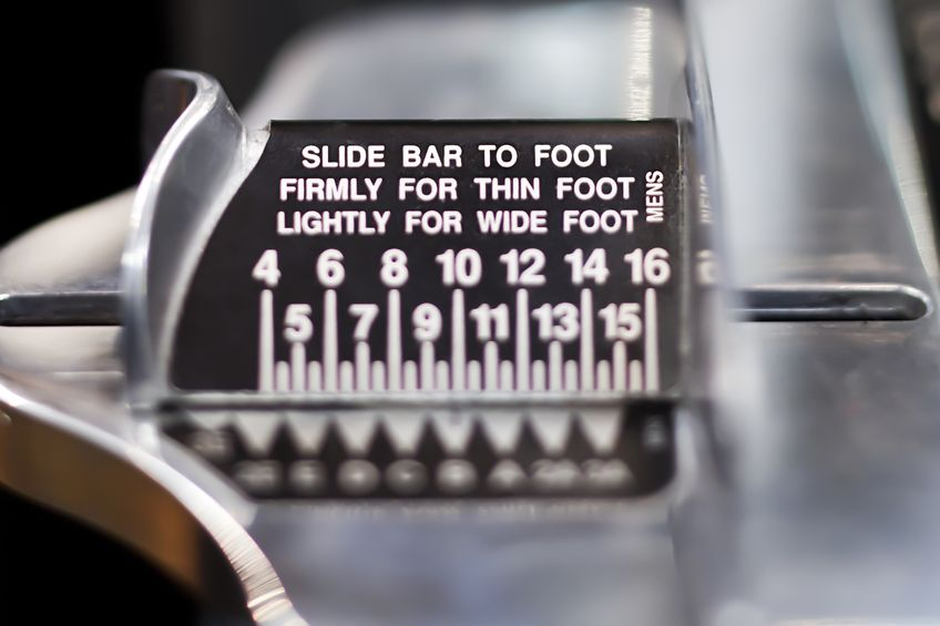 Brannock Device Foot Measuring Device
