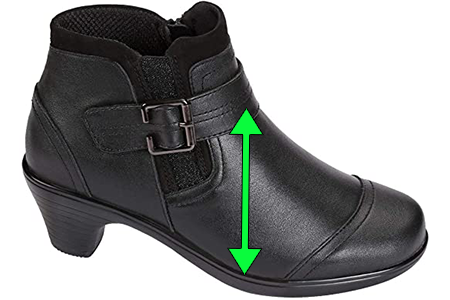 Short Boots for Women with High Instep
