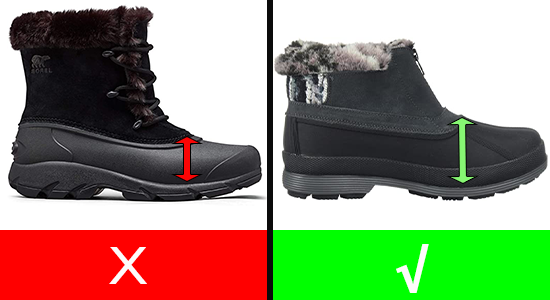 Snow Boots for Women with High Instep