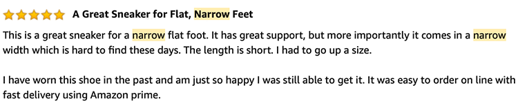 Review Narrow Sneakers