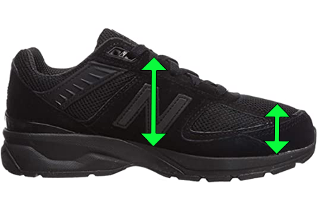 Black Women's Shoes with Extra Depth